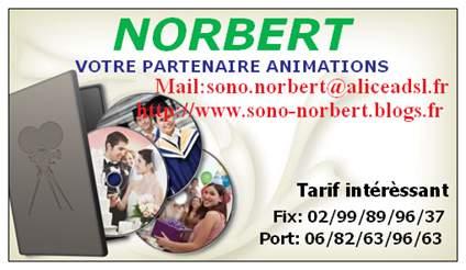 NORBERT ANIMATION : Animation de mariage, baptème, comunions