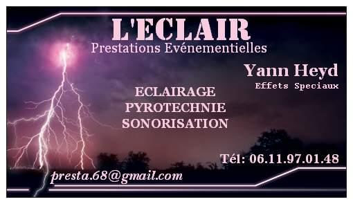 L'Eclair : Eclairage Sonorisation Pyrotechnie