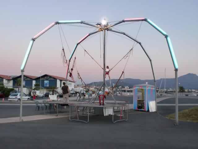 acrobungy trampoline elastique : location trampoline elastique 4 places
