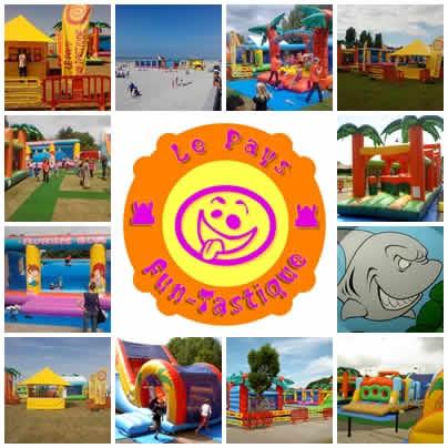 Le Pays Fun-Tastique : Location de jeux gonflables et jeux en bois