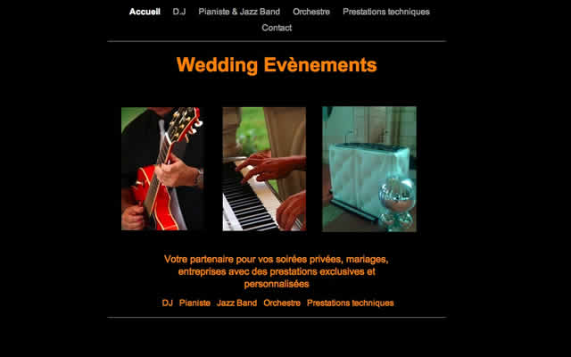 Wedding Evenements : DJ   Pianiste   Jazz Band   Orchestre