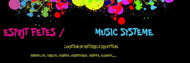 ESPRIT FETES : Location de materiels de reception