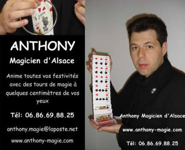 Anthony Magicien d'Alsace : Magie rapproché , close-up