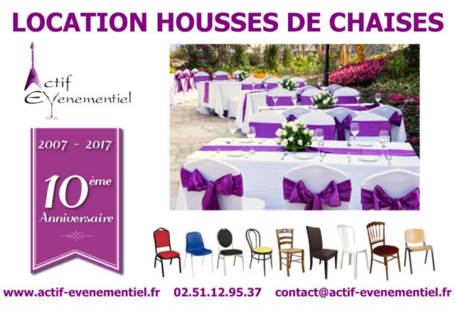 Location nappe serviette housse chaise for Location housse de chaise