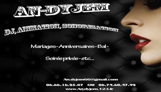 AN-DYJEM : DJ Animation sonorisation de mariage etc