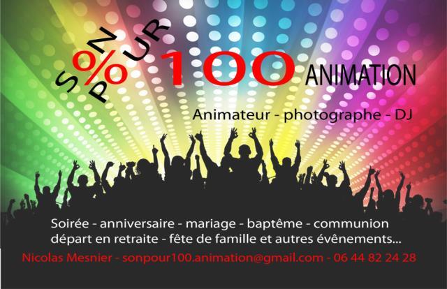 SonPour100 Animation : DJ-Animateur-Photographe