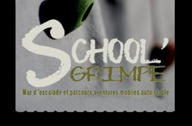 School' Grimpe : Location mur d'escalade mobile en résine