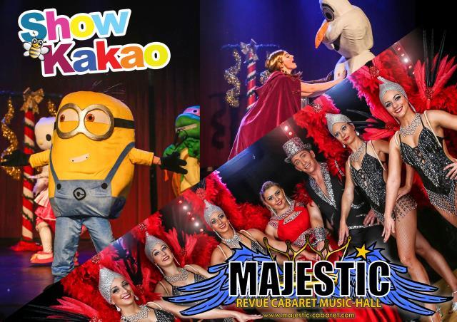 SHOW KAKAO et REVUE CABARET MAJESTIC : Animations pour Enfants et Revue Cabaret