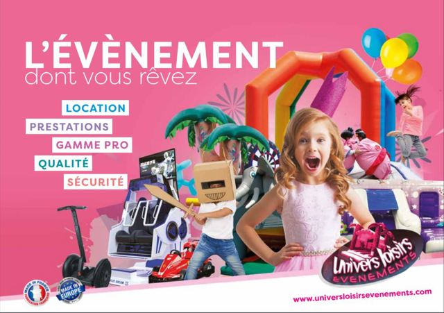 Univers Loisirs Evenements  : LOCATION DE STRUCTURES GONFLABLES