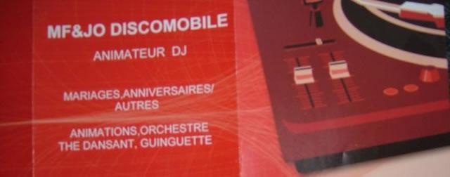 DJ animateur mf&jo discomobile : Mf&jo discomobile