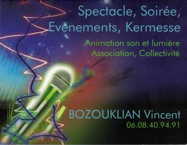 Vincent BOZOUKLIAN Animation dJ