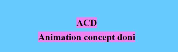 A C D animation concept doni : créativité de loisirs