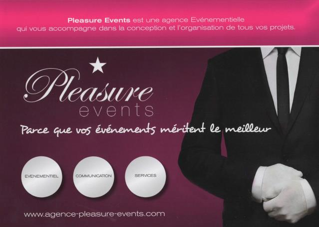PLEASURE EVENTS : vos evenements meritent  le meilleur