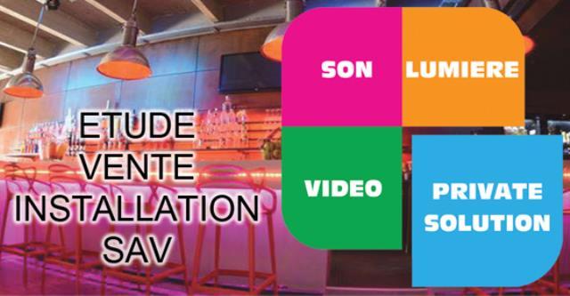 PRIIVATE SOLUTION : Sonorisation éclairage vidéo