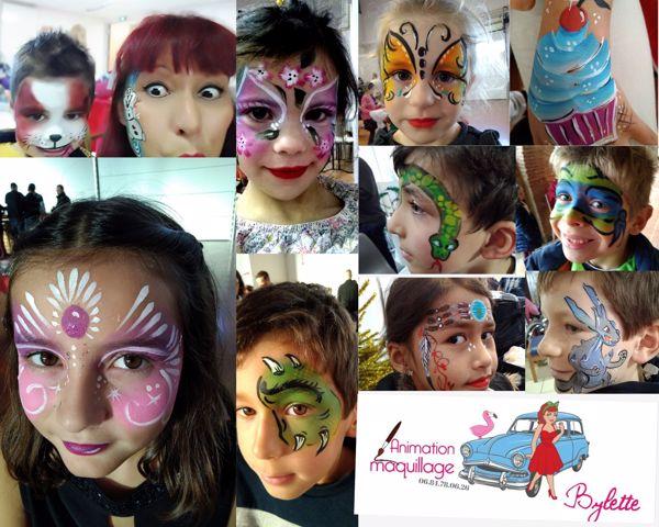 bylette : Grimace  maquillage petis et Grands