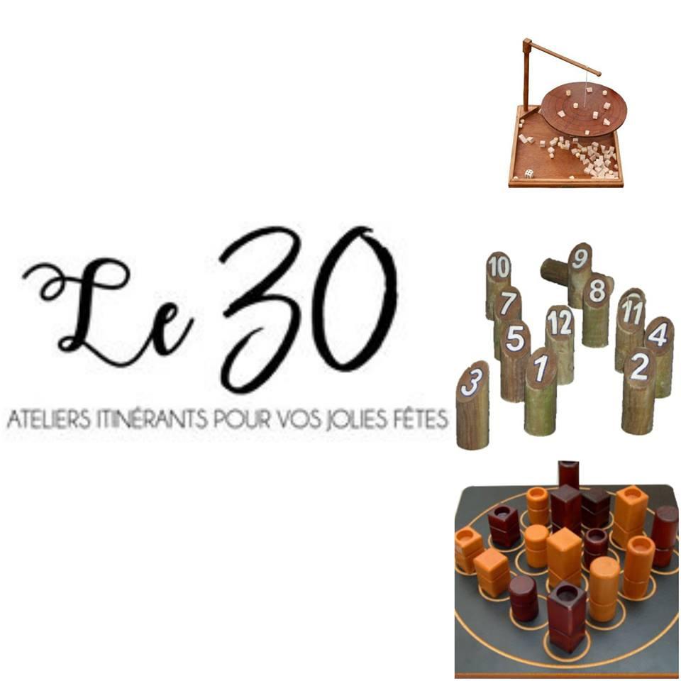 Le 30 ateliers itinérants pour vos jolies fêtes : Jeux Géants /Location / Animation